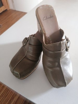 Clarks Clog Sandals green grey