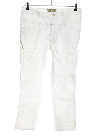 Closed Jeansy 7/8 biały W stylu casual