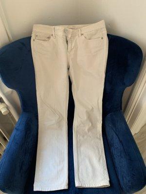 Closed Jeansy z prostymi nogawkami jasnobeżowy Bawełna