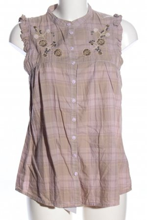 Closed ärmellose Bluse creme-pink Blumenmuster Casual-Look