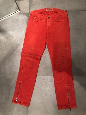 Closed Five-Pocket Trousers dark orange