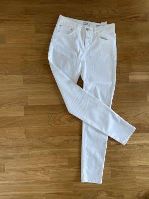 Closed Vaquero skinny blanco tejido mezclado