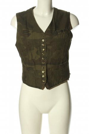 Closed Bikerweste khaki-braun Allover-Druck Casual-Look