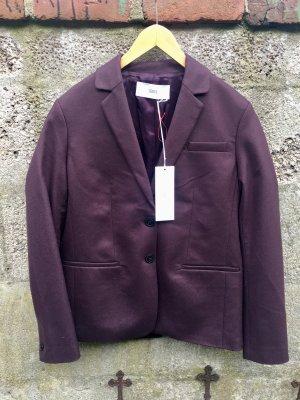 Closed Blazer de lana violeta amarronado