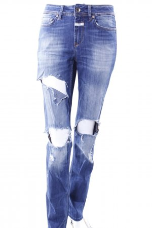 Closed Bootcutjeans destroyedlook