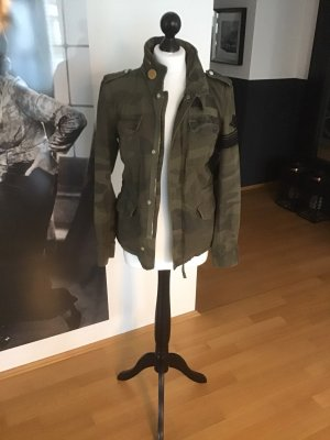Closed Military Jacket green grey cotton
