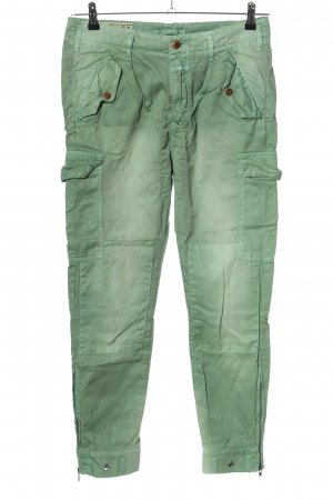 Closed Cargobroek khaki casual uitstraling