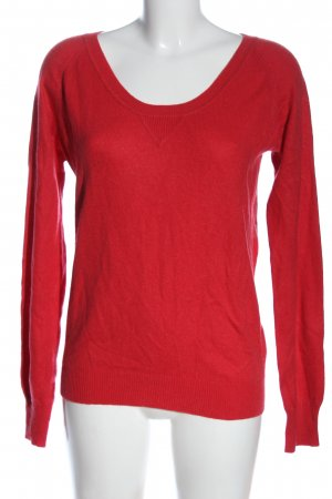 Closed Sudadera de cachemir rojo look casual