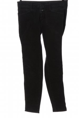 Closed Corduroy Trousers black casual look