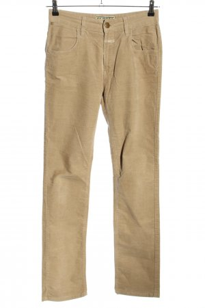 Closed Pantalone di velluto a coste color carne stile casual