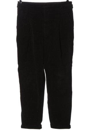 Closed Pantalone di velluto a coste nero stile casual