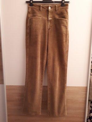 Closed Corduroy Trousers camel cotton