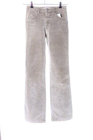 Closed Pantalon en velours côtelé gris clair style décontracté