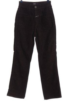Closed Pantalón de pana marrón oscuro look casual