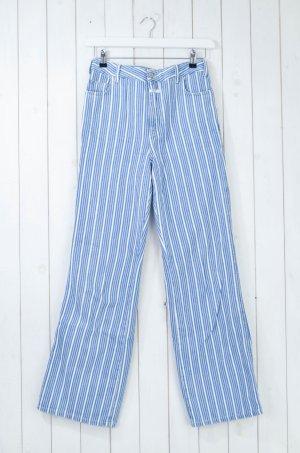 Closed Jeans boyfriend blanc-bleu acier coton
