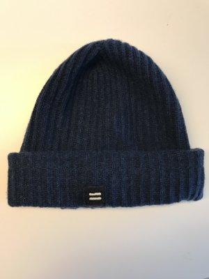 Closed Bonnet bleu foncé laine