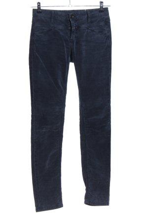 Closed Five-Pocket-Hose blau Casual-Look