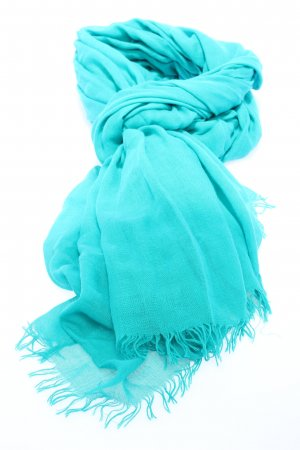 Closed Fringed Scarf turquoise casual look