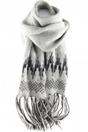Closed Fringed Scarf light grey-dark grey casual look
