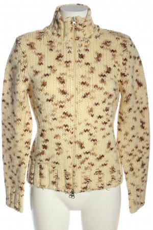 Closed Strickjacke creme-braun meliert Casual-Look
