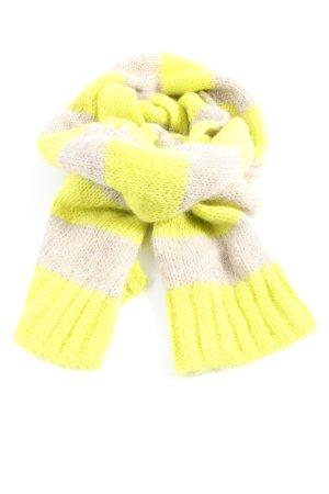 Closed Bufanda de ganchillo blanco puro-amarillo pálido estampado gráfico