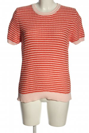 Closed Crochet Shirt white-red striped pattern casual look