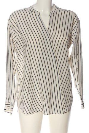 Closed Camicia blusa bianco sporco-nero stampa integrale stile professionale
