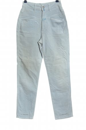 Closed High Waist Trousers blue flecked casual look