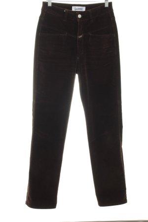 Closed Hoge taille broek bruin simpele stijl