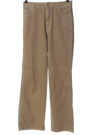 Closed Pantalón de cintura alta marrón look casual