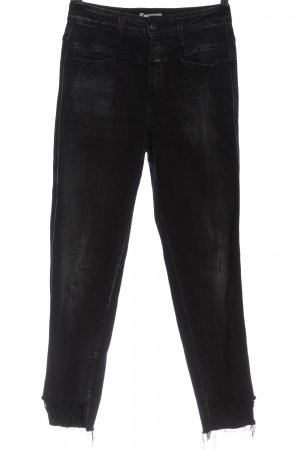 Closed Jeansy z wysokim stanem czarny W stylu casual