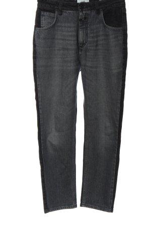 Closed High Waist Jeans hellgrau-schwarz Casual-Look