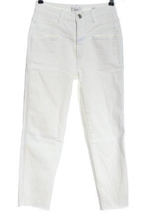 Closed Vaquero de talle alto blanco look casual
