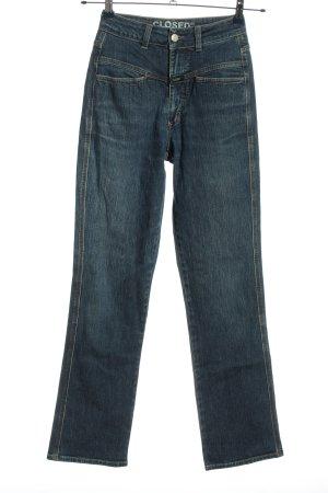 Closed Jeans taille haute bleu style décontracté