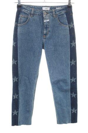 Closed High Waist Jeans blau Motivdruck Casual-Look