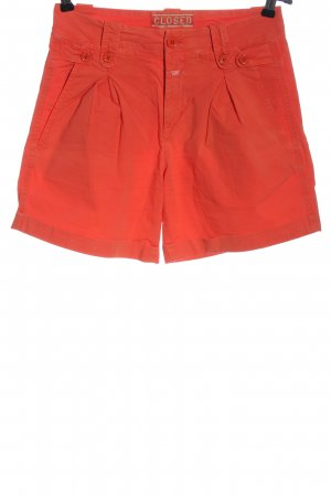 Closed High-Waist-Shorts rot Casual-Look