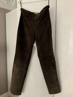 Closed Leather Trousers grey brown leather