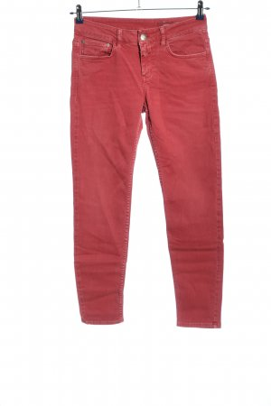 Closed Low-Rise Trousers pink casual look