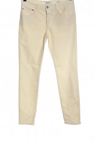 Closed Pantalone a vita bassa crema stile casual