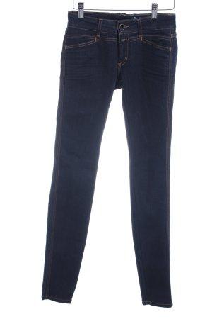 Closed Pantalon taille basse bleu foncé Aspect de jeans