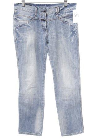 Closed Pantalon taille basse bleu acier moucheté style décontracté