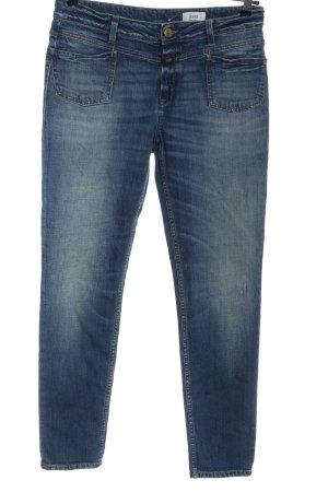 Closed Jeansy biodrówki niebieski W stylu casual