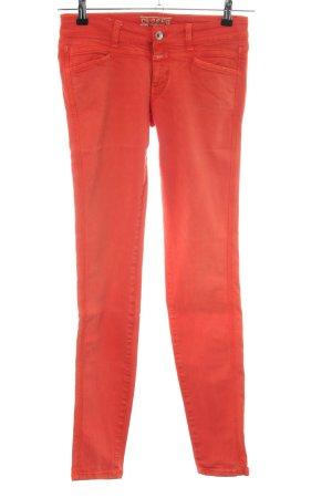 Closed Jeans taille basse orange clair style décontracté