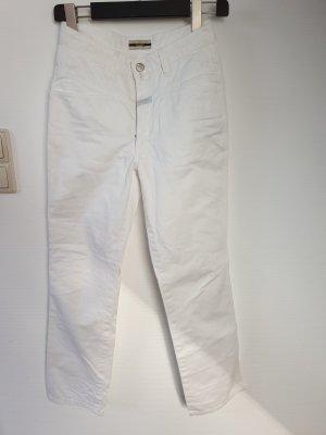 Closed Jeansy z prostymi nogawkami biały Bawełna