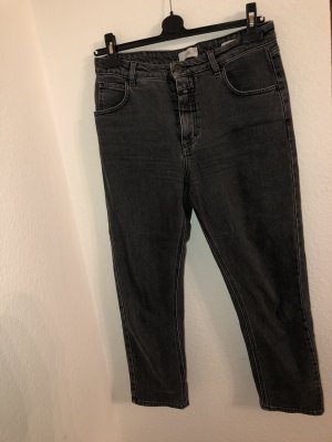 Closed Hoge taille jeans donkergrijs