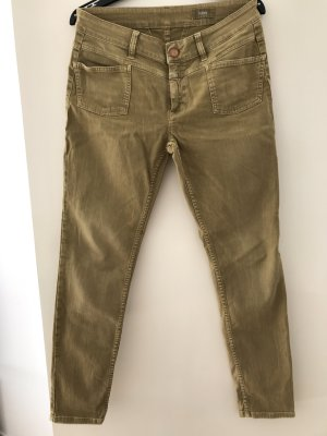 Closed Jeans slim fit verde oliva Cotone