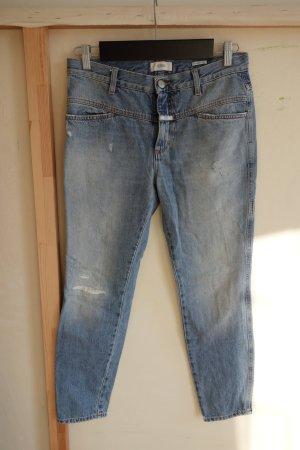 Closed Jeans a 7/8 grigio ardesia-azzurro Cotone