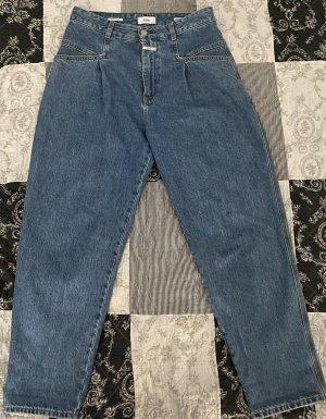 Closed Jeans a vita alta blu fiordaliso Cotone