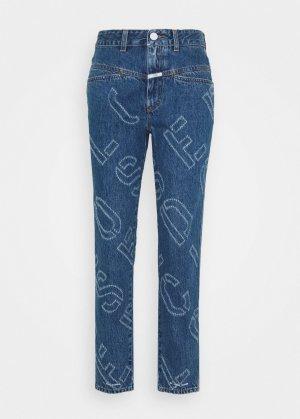 Closed Workowate jeansy stalowy niebieski-chabrowy
