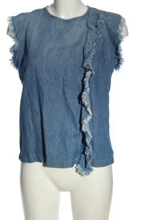 Closed Jeansbluse blau Casual-Look